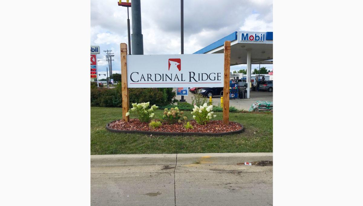 Cardinal Ridge Sign