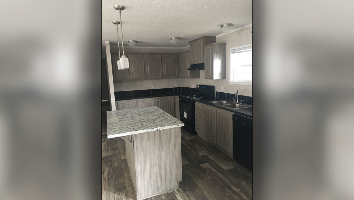 New Cabinets And Black Appliances
